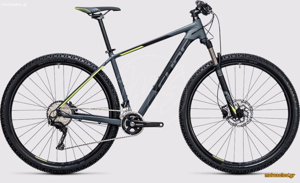 """Πωλείται Καινούργιο Ποδήλατο Mountain Cube Cube Acid 2x 27,5"""" Darkgrey 'n' Flashyellow  του 2017"""