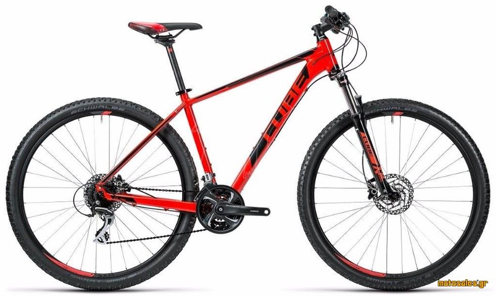 Πωλείται Καινούργιο Ποδήλατο Mountain Cube CUBE AIM SL  RED N BLACK  του 2016